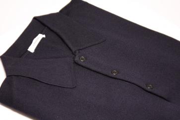 Pullover Merinowolle Polokragen made in Italy schwarz Gr. 48