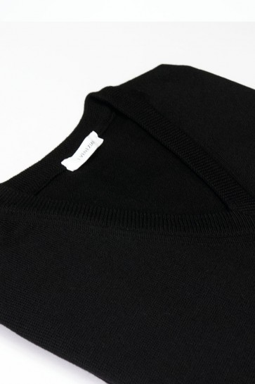 Pullover Merinowolle V-Ausschnitt made in Italy schwarz Gr. 50