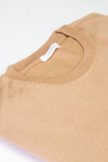 Pullover Merinowolle made in Italy Beige Gr 52