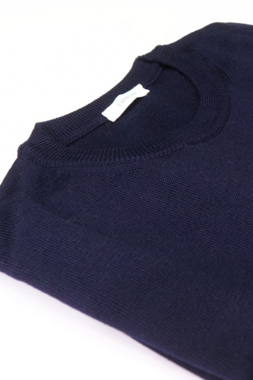 Pullover Merinowolle made in Italy Blau Gr 52