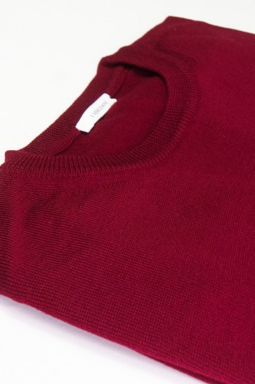 Pullover Merinowolle made in Italy Bordeaux Gr 54