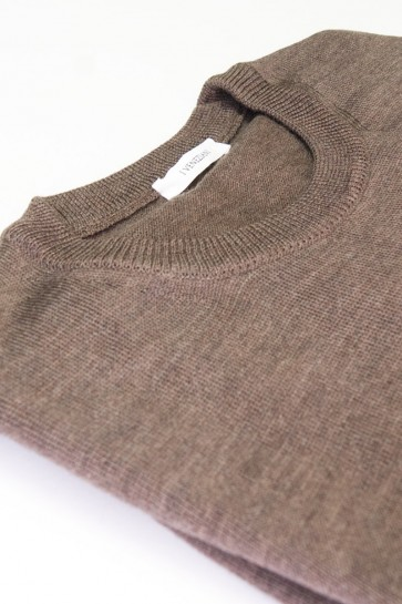 Pullover Merinowolle made in Italy Mausgrau Gr 52