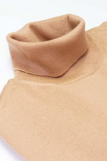 Rollkragenpullover Merinowolle made in Italy beige Gr. 52
