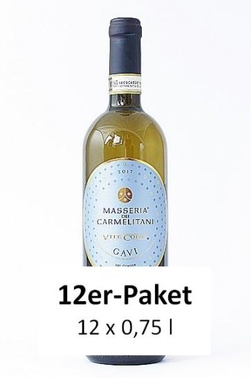 12er-Paket Vite Colte Masseria dei Carmelitani Gavi di Gavi 2017 DOCG