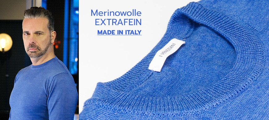 Pullover Merinowolle Made in Italy