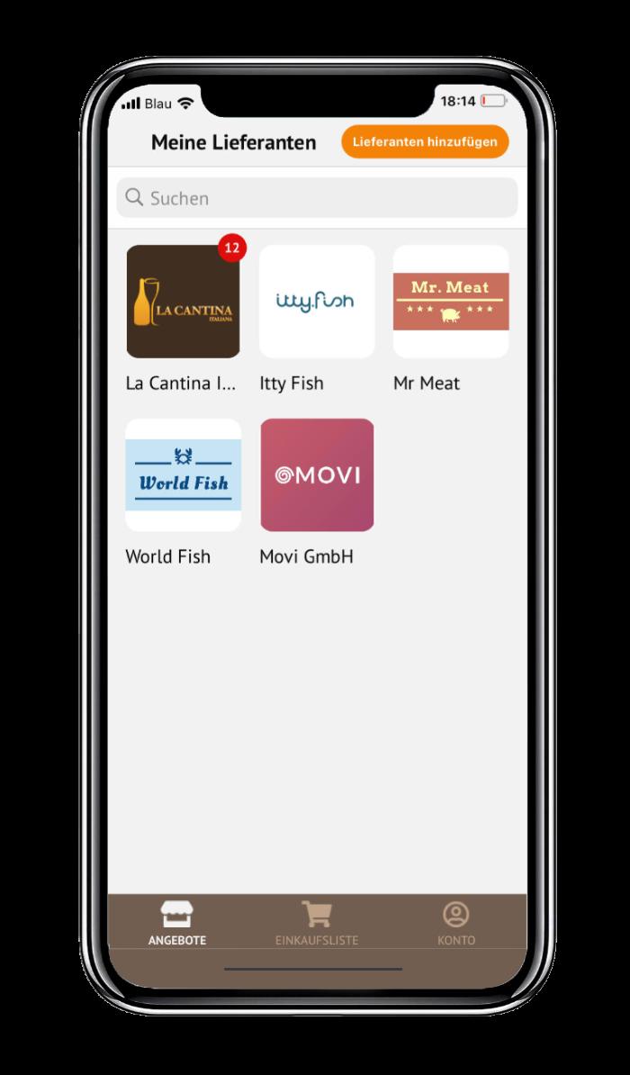 Lieferantenübersicht - Dealsh App